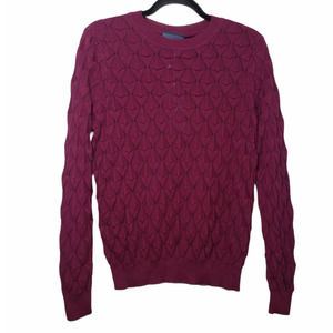Modcloth burgundy look lively knit sweater